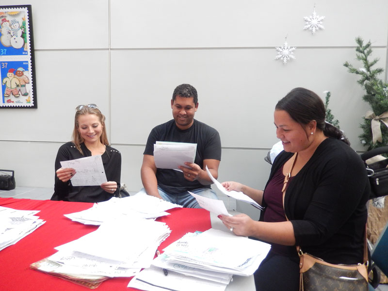 Volunteers Read Letters to Santa
