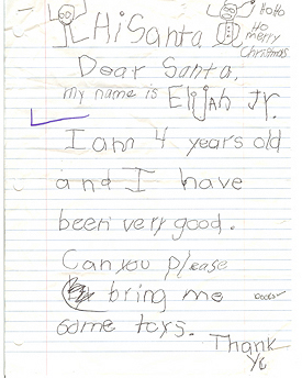 BeAnElf.org: Real letters to Santa
